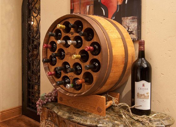Wine Barrel Wine Rack