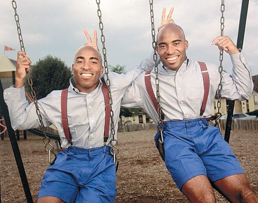Ronde and Tiki Barber in 2000. How far they've come.