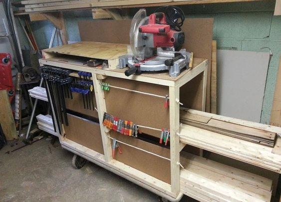 Lumber Storage Cart