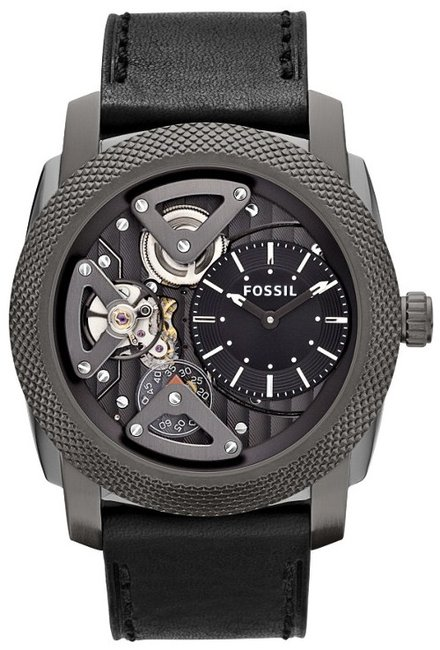 Machine Twist Leather Watch from Fossil