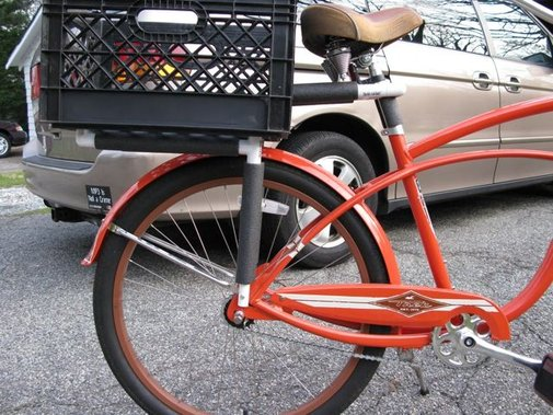PVC and Milk Basket Bike Basket