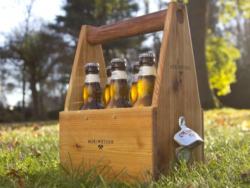 Handcrafted Wood Wine and Beer Carriers by Meriwether of Montana