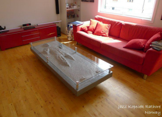 Check out this Han Solo Coffee Table - I want one !
