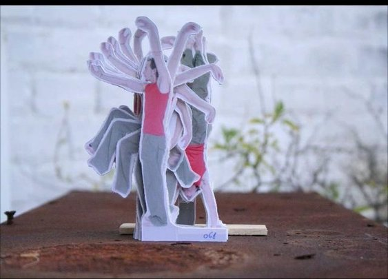 The Modern Dance: Cardboard cut out stopmotion animation   Video   1:07