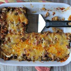Beef and Bean Enchilada Casserole — Punchfork