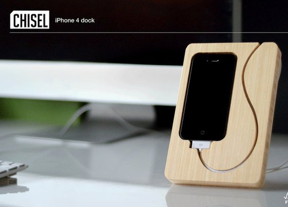 The Chisel iPhone 4 4s bamboo dock