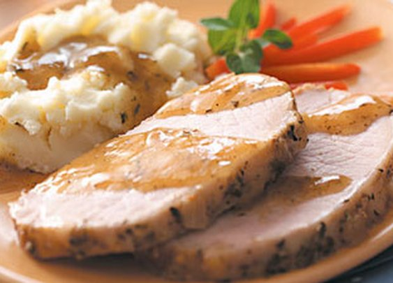 Pork Roast with Mashed Potatoes and Gravy Recipe