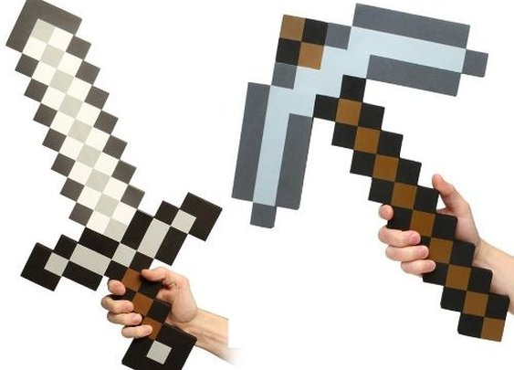 Minecraft Foam Sword & Pickaxe