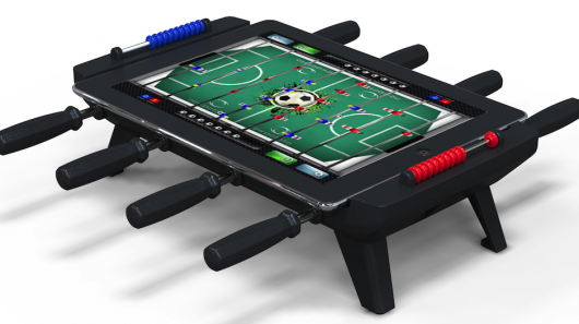 New accessory turns your iPad into a mini foosball table