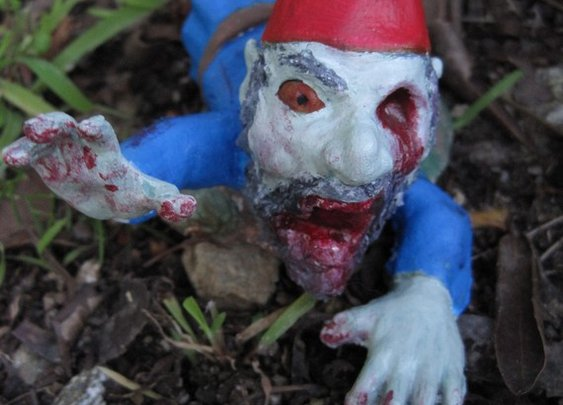 Zombie Gnomes Legless Larry by ChrisandJanesPlace on Etsy