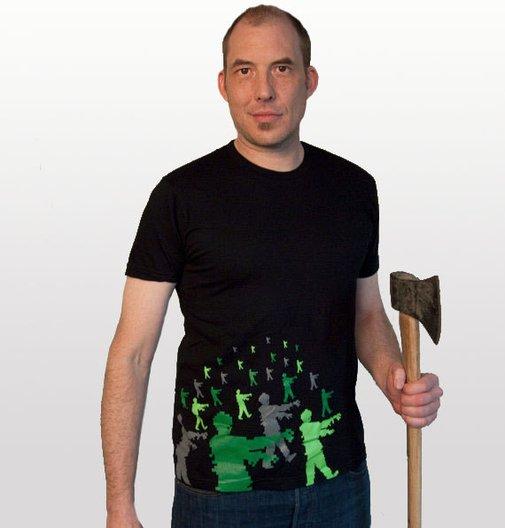 Zombie Attack men's tshirt size Medium by blackbirdandpeacock