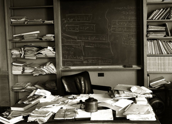 Einstein's Desk on day of his Death