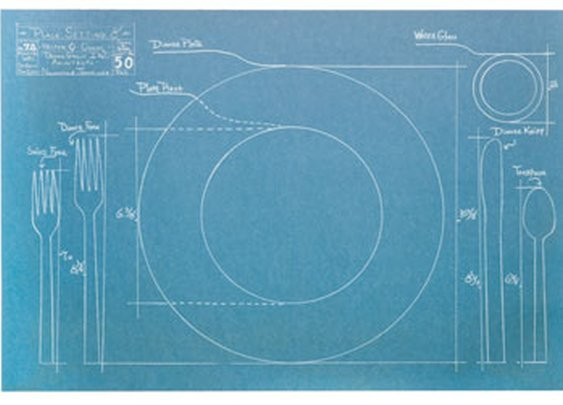 Blueprint Paper Placemats