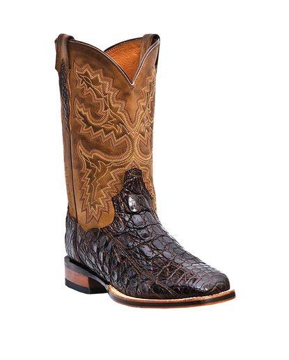 Dan Post Men's Denver Caiman Boots - Chocolate