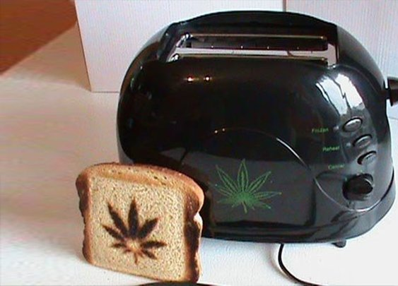 Weed Leaf Toaster