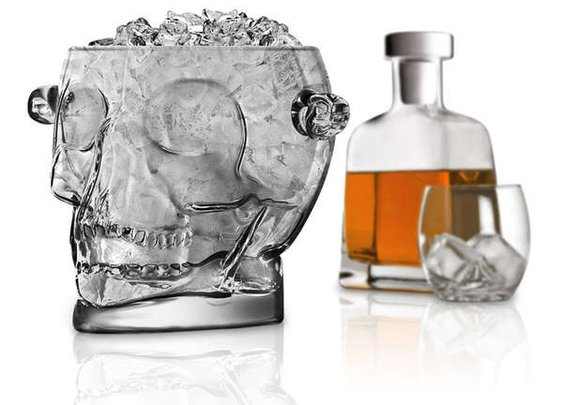 Glass Skull Ice Buckets