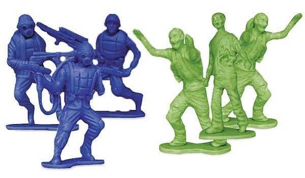 Stage Your Own War With the Zombies vs. Zombie Hunters 'Army Men' Figures
