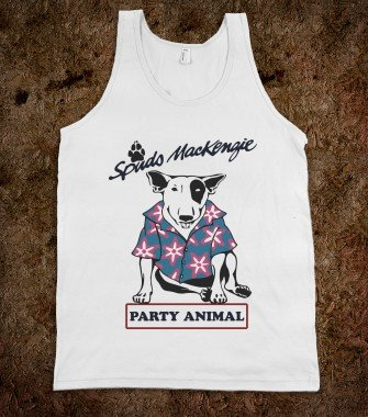 Spuds Mackinzie Party Animal Tank Top