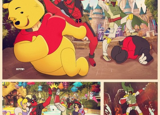 Boba Fett And Deadpool Spend a Day At Disney World [Comic]