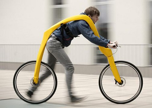 Pedal-less Bicycle Is Powered By Running (Plus Hills)   Geekologie