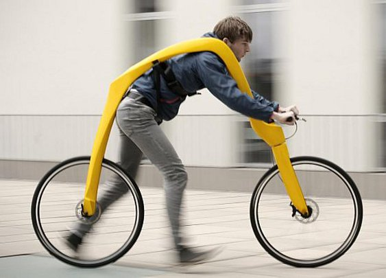Pedal-less Bicycle Is Powered By Running (Plus Hills) | Geekologie