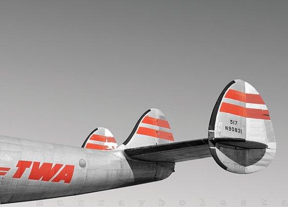 TWA Constellation Vintage Airplane Art 8x10 by MurrayBolesta
