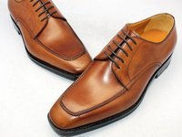 hand coloring tan calf derby shoe