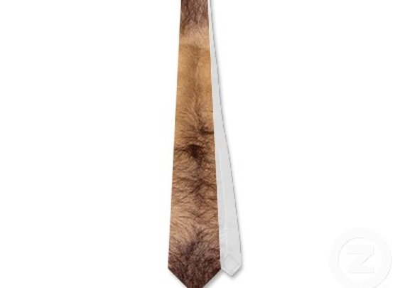 OPUS Perfect Hairy Chest and Stomach Tie from Zazzle.com
