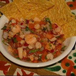 San Ignacio Shrimp Salsa and Ceviche