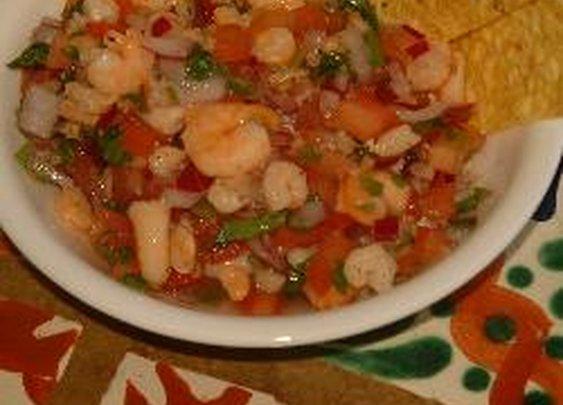 San Ignacio Shrimp Salsa and Ceviche