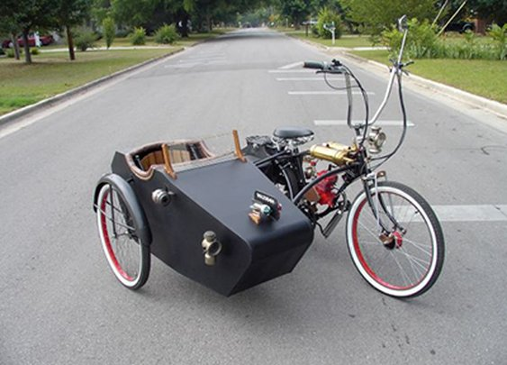 Dude Craft: Motorized Bicycle w/ Sidecar