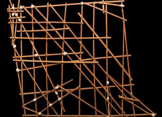 Old Micronesian navigational chart, Micronesian Art, Oceanic Ar