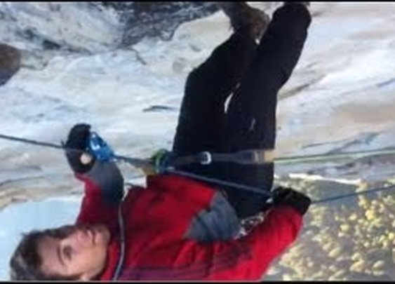 Massive Fall and Swing From the Top of El Capitan Yosemite - YouTube