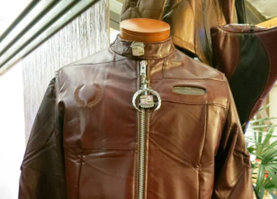 A Motorcycle Jacket Made From Reclaimed Cadillac Upholstery & Parts