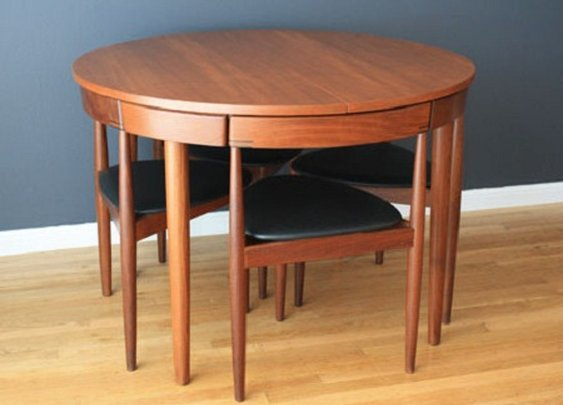 Hans Olsen Teak Dining Table with Chairs.