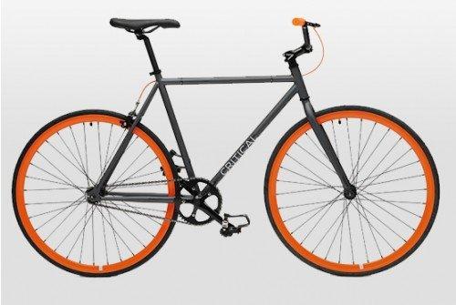 Critical Cycles -Road Bike | Gunmetal Gray Frame + Orange Wheels