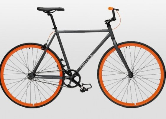 Critical Cycles -Road Bike | Gunmetal Gray Frame + Orange Wheels