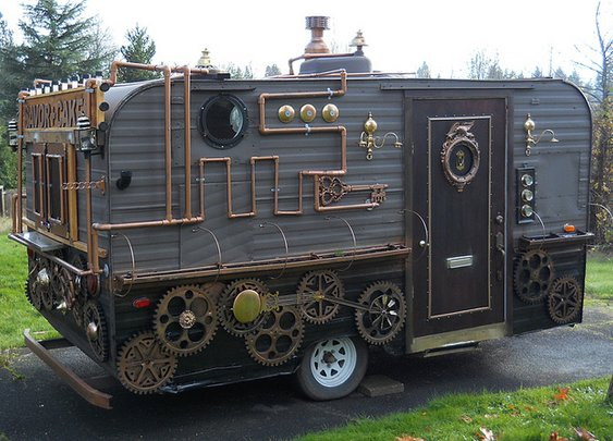 Steampunk Food Cart: Victorian Fast Food