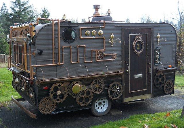 Steampunk Food Cart: Victorian Fast Food