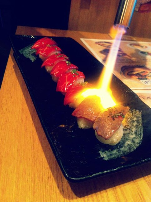 Steak Sushi - cooked tableside