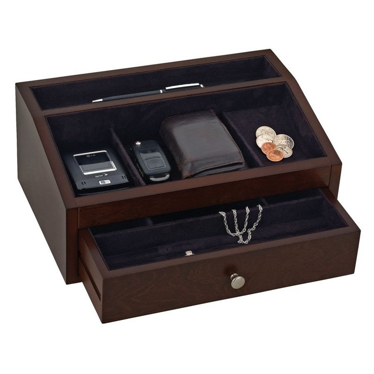 Reed & Barton Jackson Jewelry Valet - 12W x 5H in. - Mens Jewelry Boxes at Hayneedle