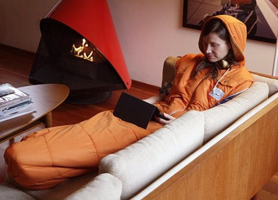 The Napsack sleeping bag looks like a giant hoodie