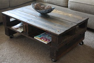 Wilsons and Pugs: Pallet Coffee Table