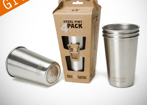 Giveaway: Klean Kanteen Stainless Steel Pint Cups | Contemporary Masculine