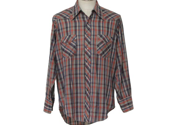 1960s Wrangler Western Shirt: Late 60s -Wrangler