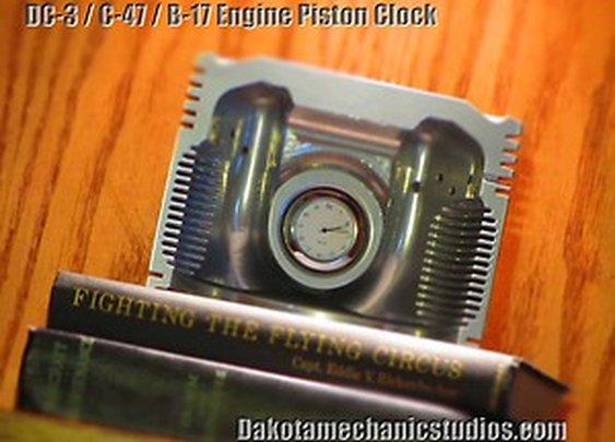 Authentic DC 3 C 47 B 17 Wright R 1820 Airplane Engine Half Piston Clock | eBay