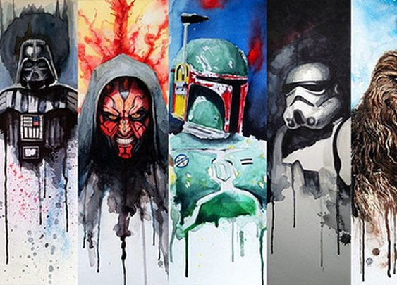 TOYSREVIL: Star Wars Character Paintings by David Brodsky