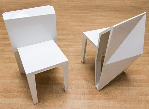 A-Cute geometric table and chairs by andViceVersa