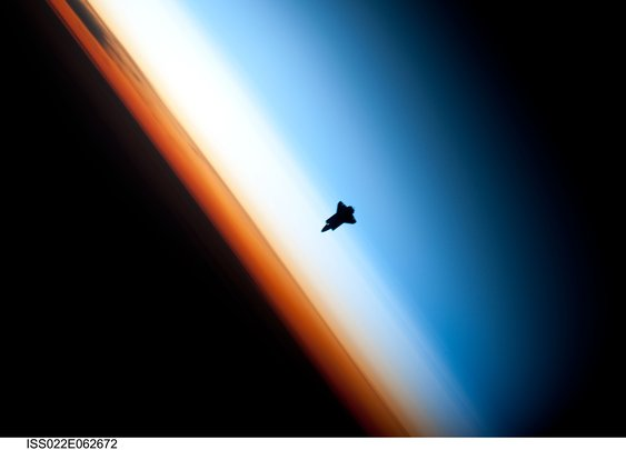Endeavor as Seen From the International Space Station