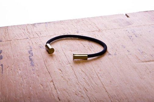 BRZN Black Bullet Casing Bracelet